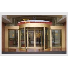 Porte coulissante courbée automatique ronde, porte automatique en verre coulissante
