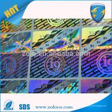 Alibaba Chine autocollant personnalisé en hologramme avec logo personnalisé