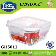 récipient de nourriture, boîte de récipient de stockage de nourriture de verre carré de 320ml