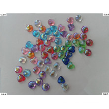 AB shell vein acrylic beads