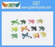 Mini vinil katak plastik mainan aksara
