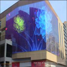 Telão LED para parede cortina semi-externa