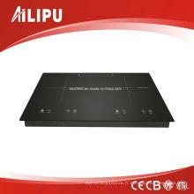 Table de cuisson à induction à deux zones à élément chauffant Schott Glass et EGO de 730 * 430 mm, modèle Sm-Dic13b