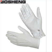 White Cotton Parade Fabric Glove with Snap Back