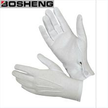 Gant de tissu en coton blanc avec un arrière-plan