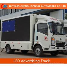 HOWO 4X2 LED caminhão de publicidade / LED tela caminhão