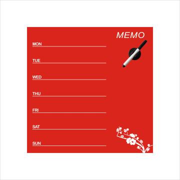 Tablero de anuncios de vidrio magnético utilizado en el hogar o la oficina