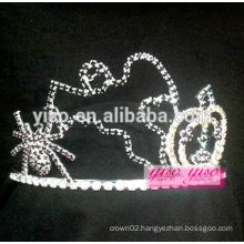 new arrival custom pageant promotion spider crystal tiara