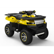 Kandi Yellow 700cc Utility Eec Atv With One Seat And Double Swing Arm