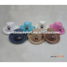 Chapéu de cowboy rosa bebê para crianças barato