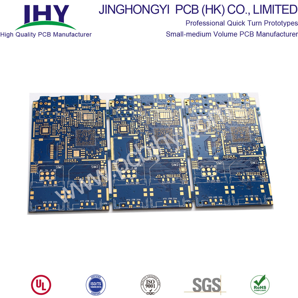 "Blue 6L TG180 ENIG 1u"" High TG PCB"