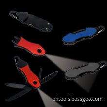 Pocket Knife with Detachable LED Torch, with Carabiner
