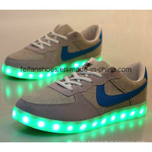 OEM Latest Men Good Sale USB Charging LED Shoes Leisure Sports Shoes (FF416-4)