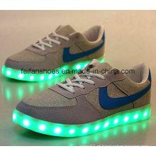 OEM mais recente homens boa venda usb LED de carregamento sapatos calçados esportivos de lazer (ff416-4)
