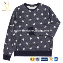 Designs de impressão de suéter de suéter de Cashmere de senhoras de moda mais recentes