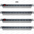 19 Inch USA Type Universal Socket Network Cabinet and Rack PDU