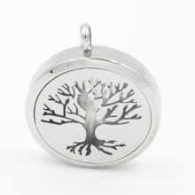 Original Manufacture The Tree of Lift Oil Diffuser Locket Pendant for Necklace Fashion Jewelry