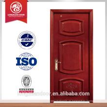 Design de porta de madeira elegante projetado design moderno cores de pintura portas de madeira com fibra de vidro