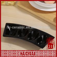 Cozinhe utensílio cerâmico colorido embossing oval pan lanche chapa candy colored pan