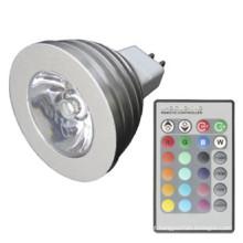 Sincronização RGB Multicolor Mudando 3W MR16 Lâmpada LED
