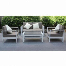 Outdoor furniture done with powder coating