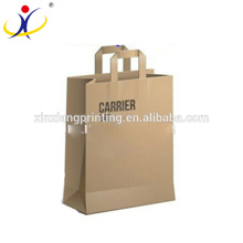 Sac de transport de vin unique de luxe, sacs de transport de papier 26 + 13.5 x 32 + 4cm