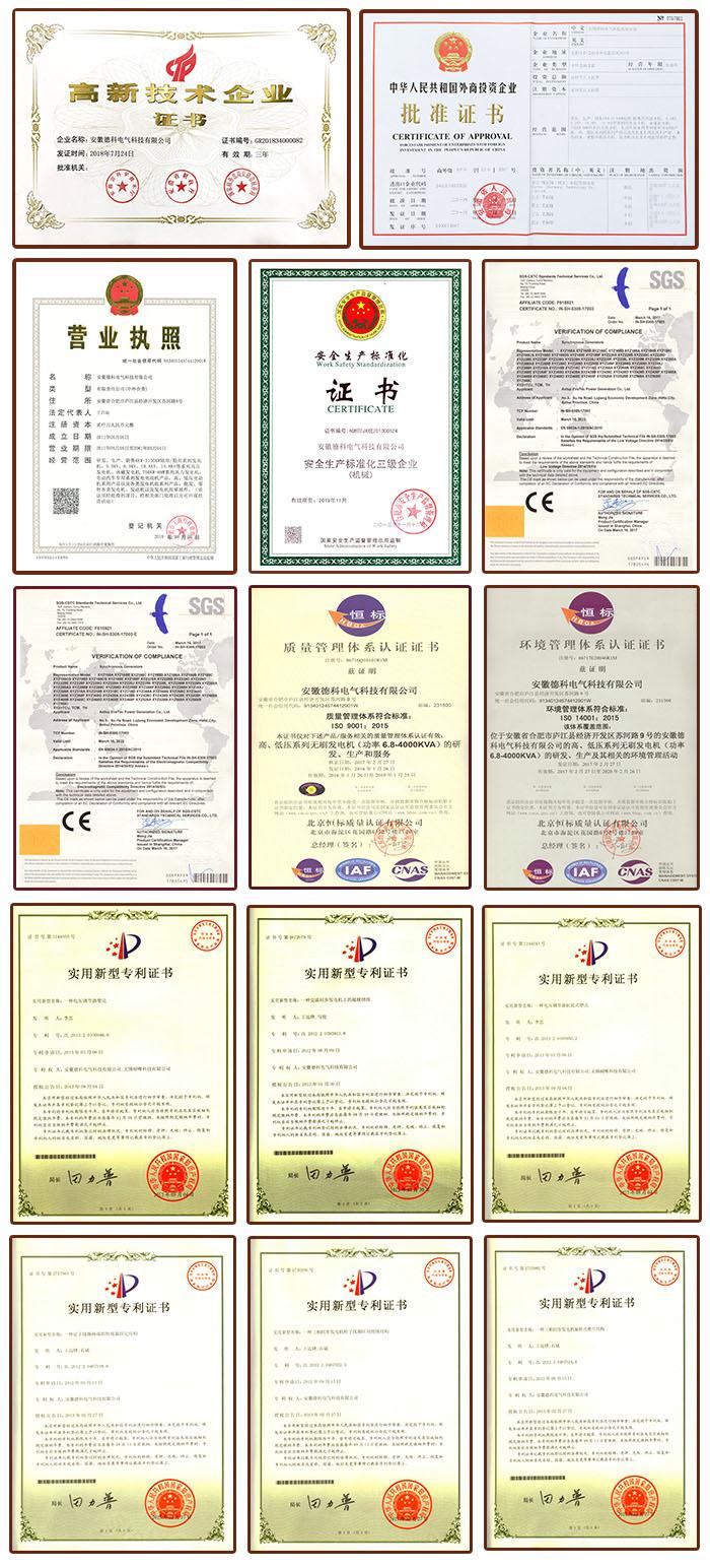 generator certificates