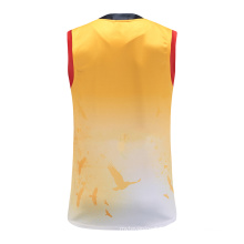 100% Polyester Tank Tops Sleeveless Rugby Jersey