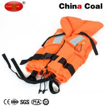 Chaleco de vida reflexivo anaranjado modificado para requisitos particulares con el chaleco salvavidas del silbido salvavidas
