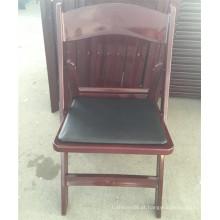 Cadeira plástica acolchoada de mogno do jardim para eventos exteriores