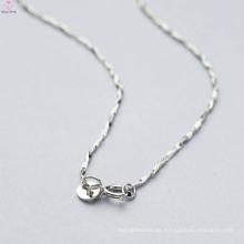 Tipos hechos a mano de cadenas de collar de plata de ley 925