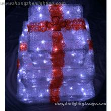 Acrylic gift box Christmas led outdoor light