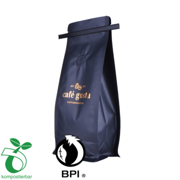Tin Tie Side Gusset Datar Bawah Drip Coffee Bean Packaging Bag