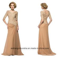 Mulheres Chiffon Stain Voltar Zipper Evening Dress Prom Dress