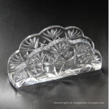 Mesa de jantar usada porta-guardanapos em cristal