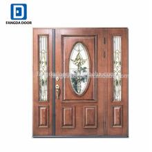 Фанда 3 панели витражного роскошные двери из красного дерева с подфарниками американский дизайн двери