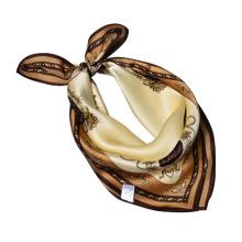 Mode impression 53 * 53 cm bandeau femmes écharpe en soie châle carrée soie foulard
