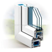 Vietnam price European standard BS EN 12608 uPVC Profile Door and Window
