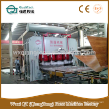 Machine à presse à mélamine mdf à cycle court / presse à pression hydraulique YX2000T - laminage 1220x2440mm