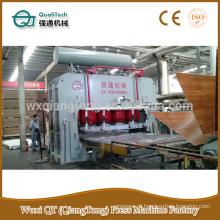 Máquina de imprensa de maze de melamina de ciclo curto / pressão quente hidráulica YX2000T - Laminação 1220x2440mm