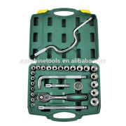 Professional auto repair tools 28pcs Dr. Dsocket set hand tool with blow case