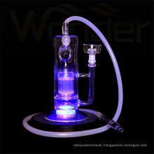 Purple LED Glass Hookah for Wholesale