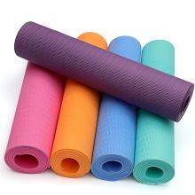 Wholesale Fitness Double Side Custom Logo Anti-slip Easy to Clean 6mm TPE Yoga Mat