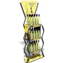 Calidad Asegurada Hierro Supermercado de 3 niveles Pop Promover la energía de la botella Pantalla colorida de la bebida de la energía
