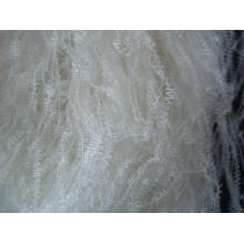 Filet de plume en nylon à viscose, plume de polyester, fil de nylon Lurex