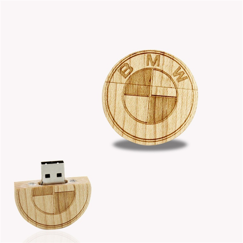 Wooden Coin Usb Memory Stick