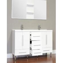 Modern White Mdf bathroom Vanity cabinet