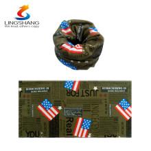 Nuevos productos calientes del vestido de la manera para la impresión 2015 del lingshang Bandera nacional de los EEUU aduana cachemira inconsútil pañuelos bufanda de encargo del tubo