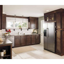 L Shape Wholesale Gabinete de cozinha de madeira maciça