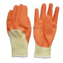 NMSAFETY 10 calibre fil jaune manteau orange gants de travail de construction en latex